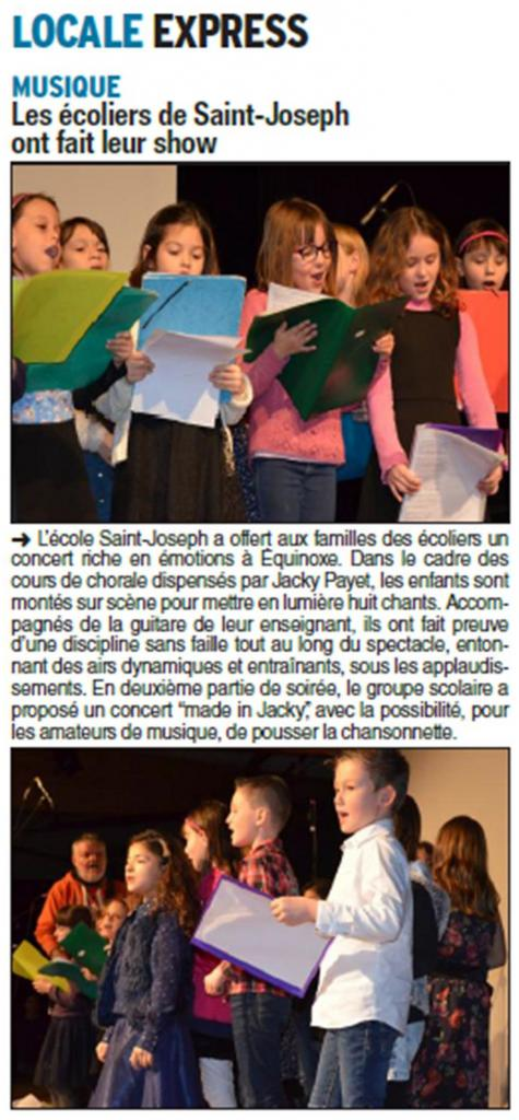 article concert chorales