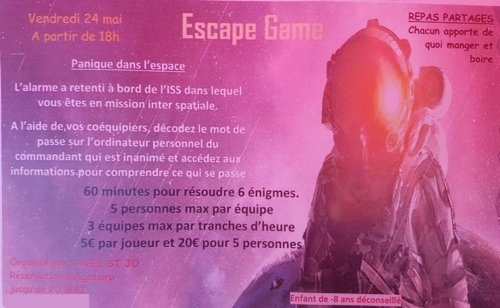 Affiche escape game modifiee
