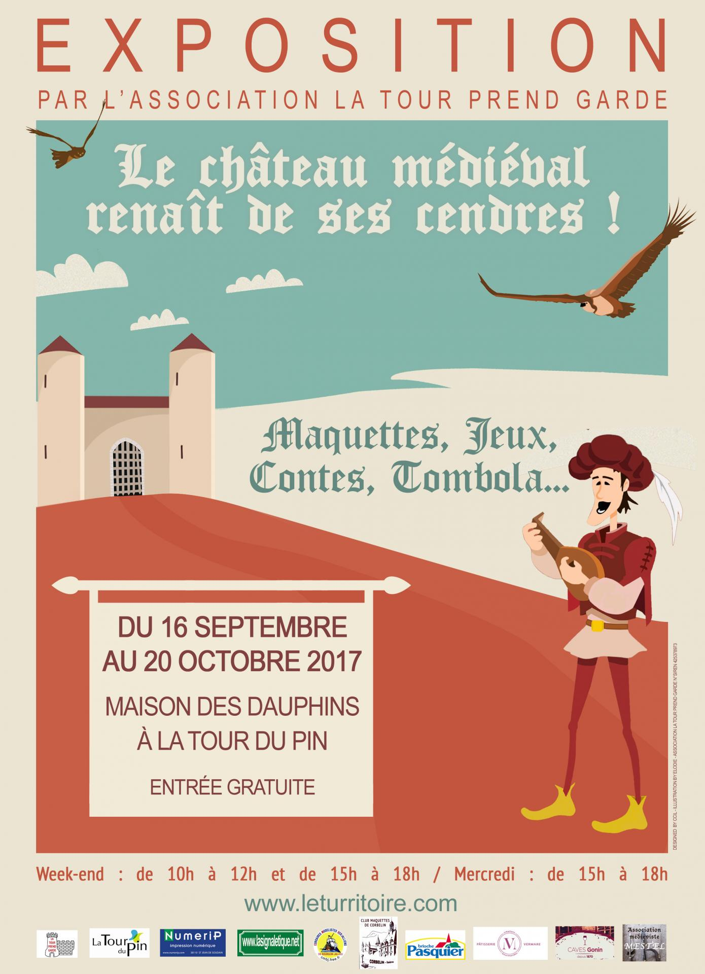 Affiche exposition chateau medieval