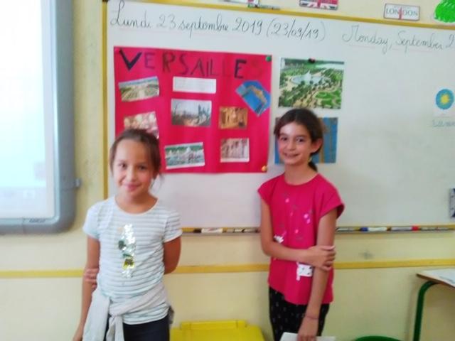 exposé sur Versailles de Chloé et Camille