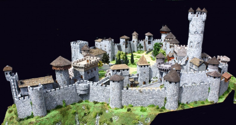 Le chateau medieval maquette