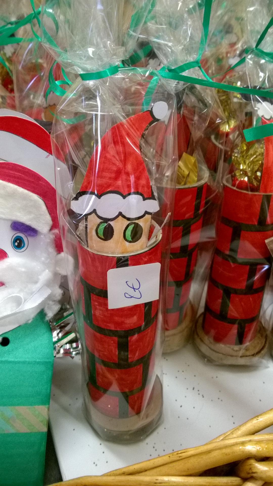 Père Noël dans leur cheminée des CP