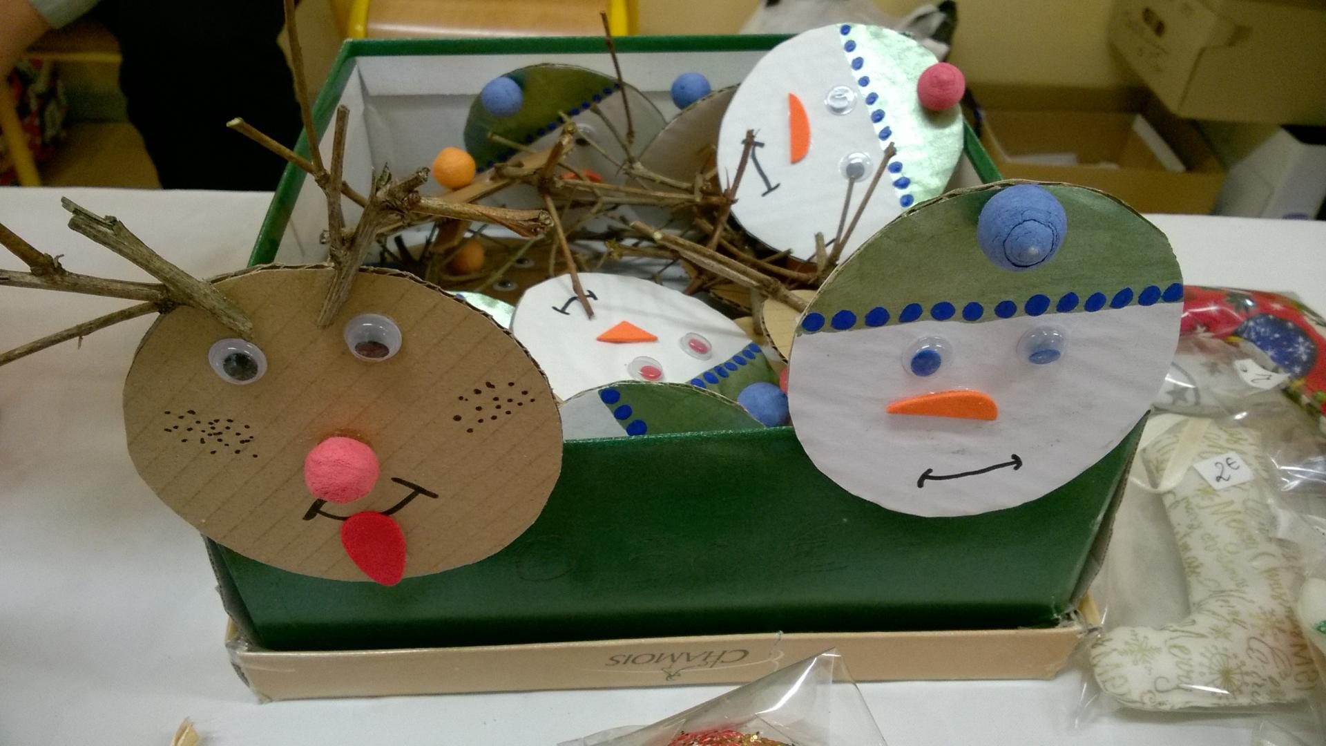 Les cerfs et bonhommes de neige de Nathalie de l'apel